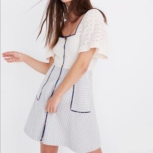Madewell x The New Denim Project Dress 16 Striped